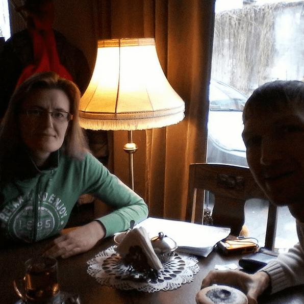 Monika and I in Cafe Szafa, Starogard Gdanski
