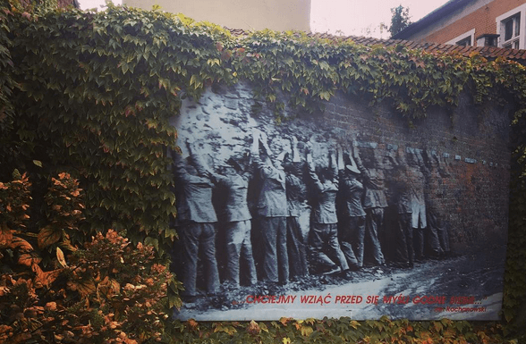 On the wall at the Polish Post Office in Gdansk