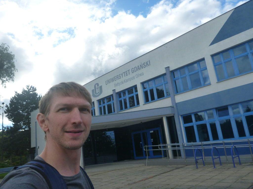 Arrival at the University of Gdańsk