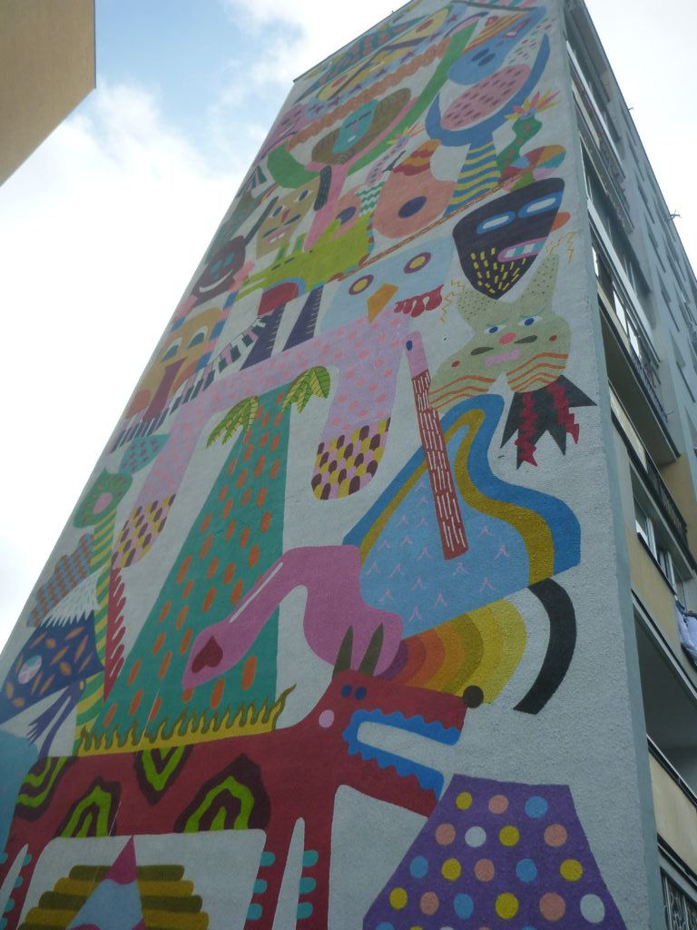 Dziwaczne Odkrycia Touring The Artistic Wall Murals In District Circuit Board Of Zaspa Gdask