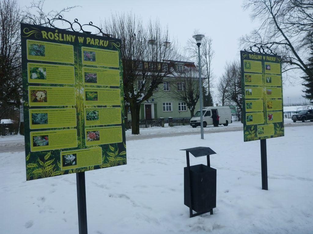 Boards in Park Miejski