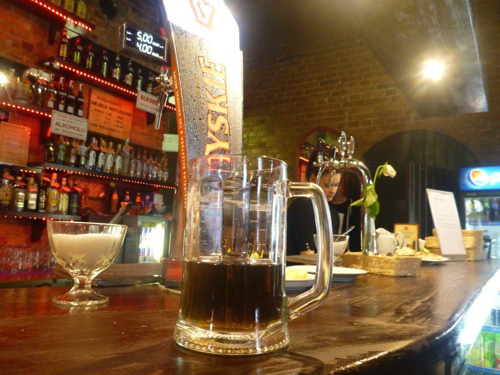 Grzane Piwo (hot beer) at Stara Kaflarnia Biskupiec