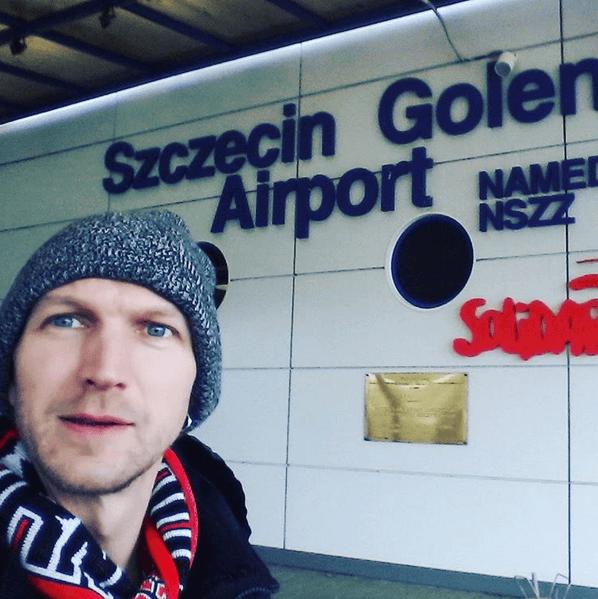 Arrival in Szczecin in 2016