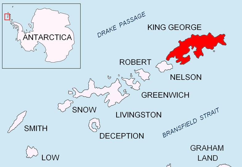 Polish Antarctica Base Map Henryk Arctowski Station on Kig George Island
