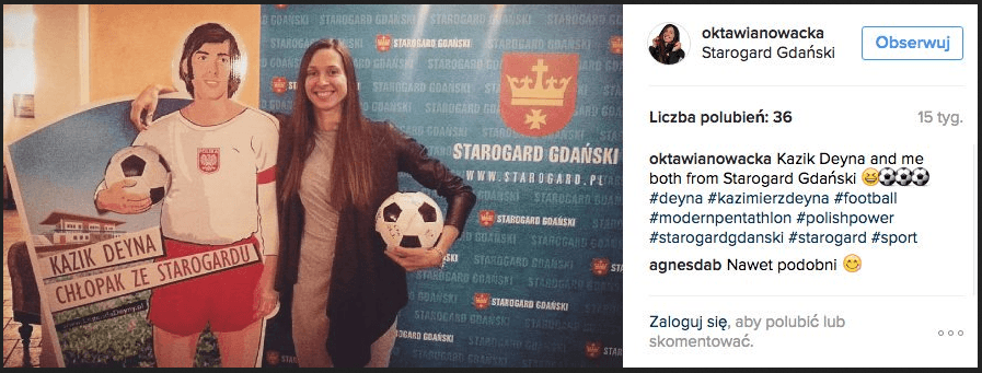Oktawia Nowacka and Kazik Deyna - Starogard Olympic Medal Winers.