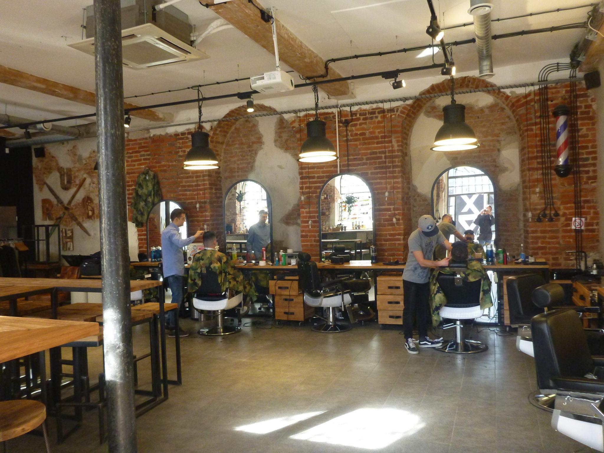Piątkowe Picie: Drinking in Brush Barber Shop, Łódź, the ...