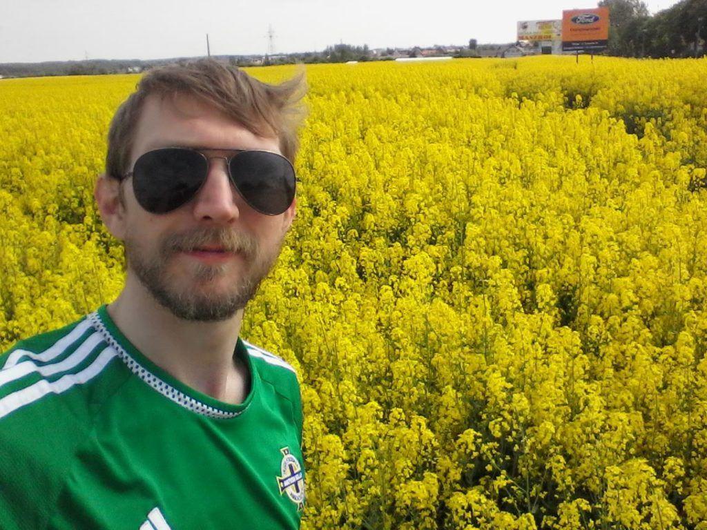 Yellow Rapeseed Oil Fields of Kokoszkowy