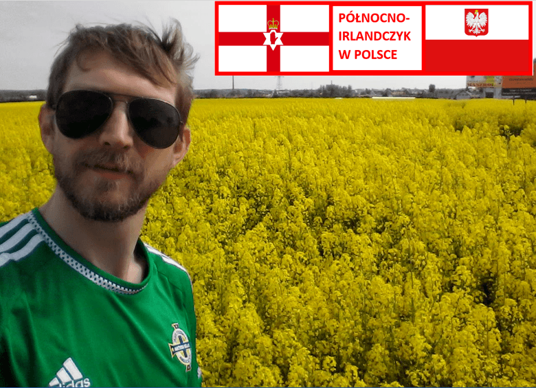 Tourist in Kokoszkowy: Jonny Blair, Northern Irishman in Poland