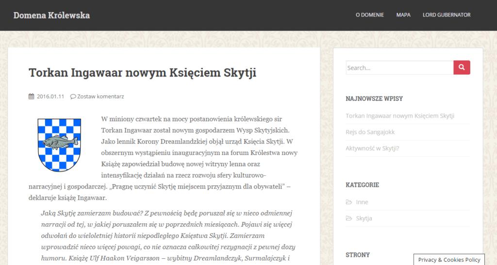 Domena Province Website