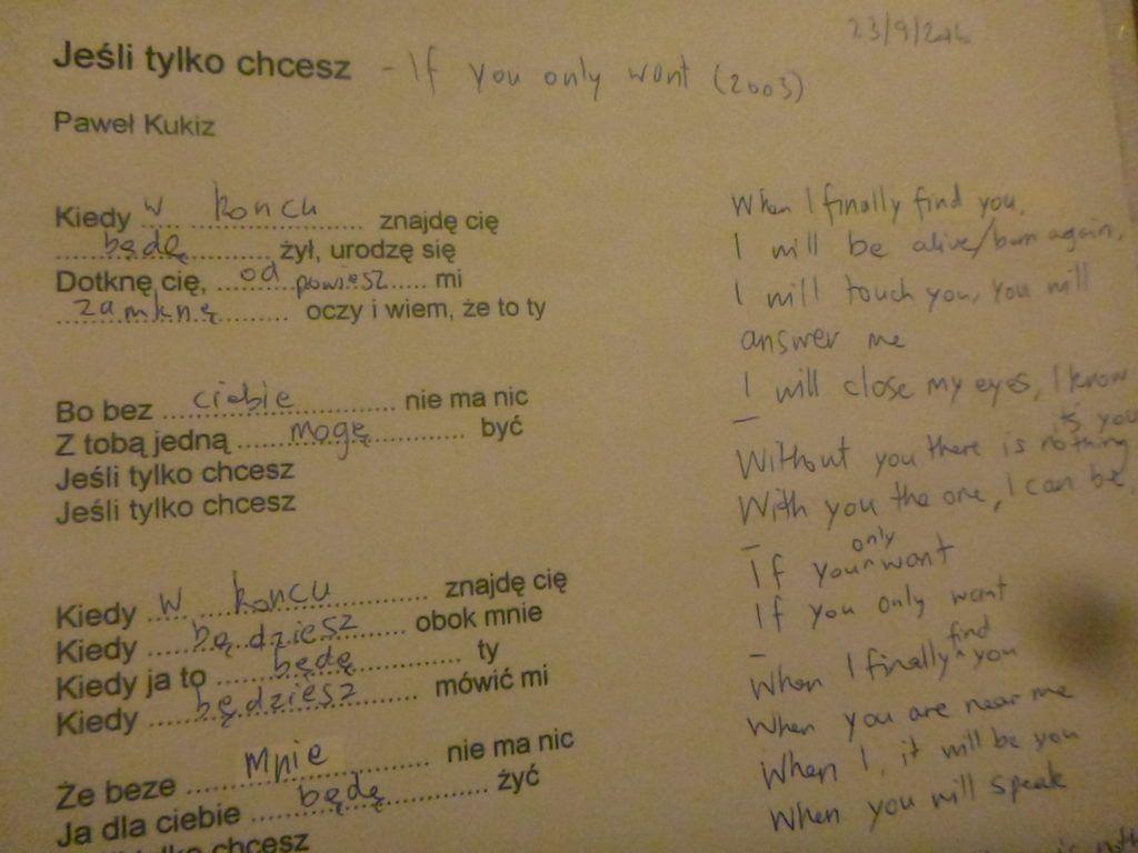 Dziwaczne Odkrycia: My Favourite Polish Song, the Sombreness of Jeśli Tylko Chcesz