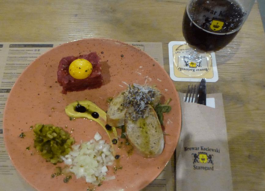 Delicious Tatar in Browar Kociewski, Starogard Gdański aleksandra mueller