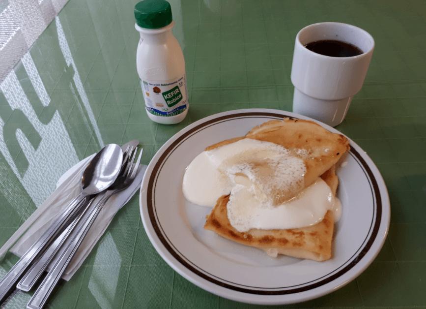 Polish Nalesnki Pancakes Tea Kefir Aleksandra