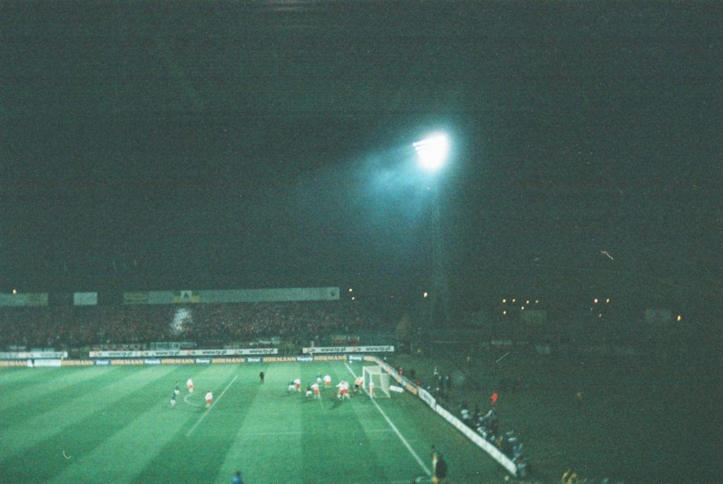 My view of the Legia Warszawa stadium on my first visit in 2005 - Poland 1-0 Northern Ireland