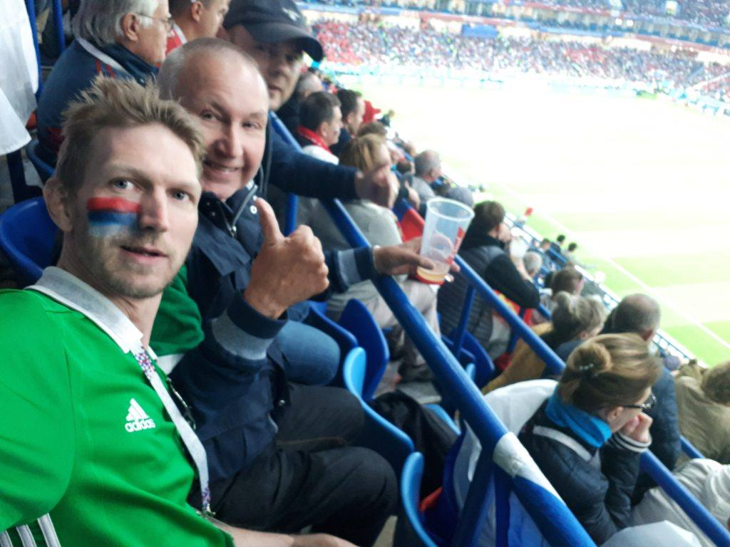 Watching Serbia v. Cheatzerland at the 2018 World Cup