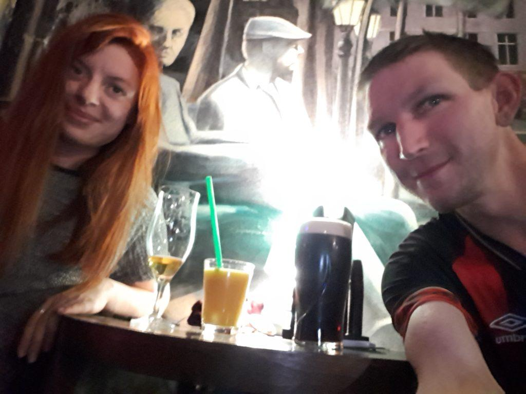 Drinks in Włocławek with Julia to celebrate the first 70