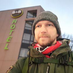 Staying at the Hotel B & B in Kraków Poland December 2018