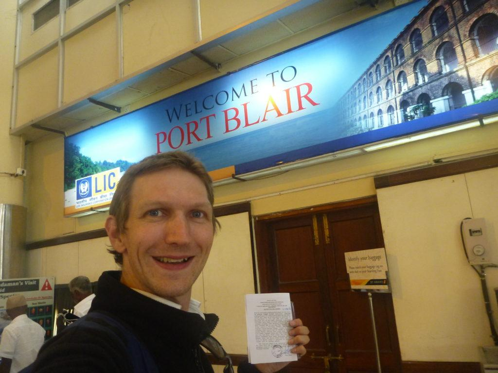 Arrival in my town: Port BLAIR. I'm not Polish.