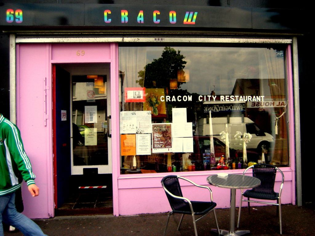Cracow Polish Restaurant which was once on the Cregagh Road in Belfast, Northern Ireland