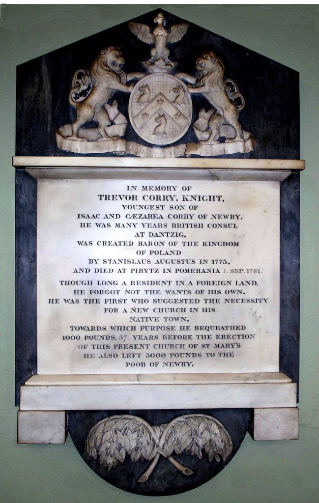 Sir Trevor Corry Memorial in Newry