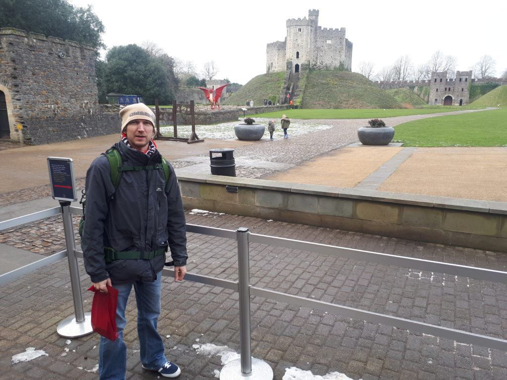 Cardiff Castle and the Welsh Dragon, February 2019