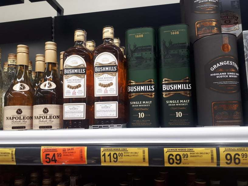 Bushmills on the shelves of my local Biedronka