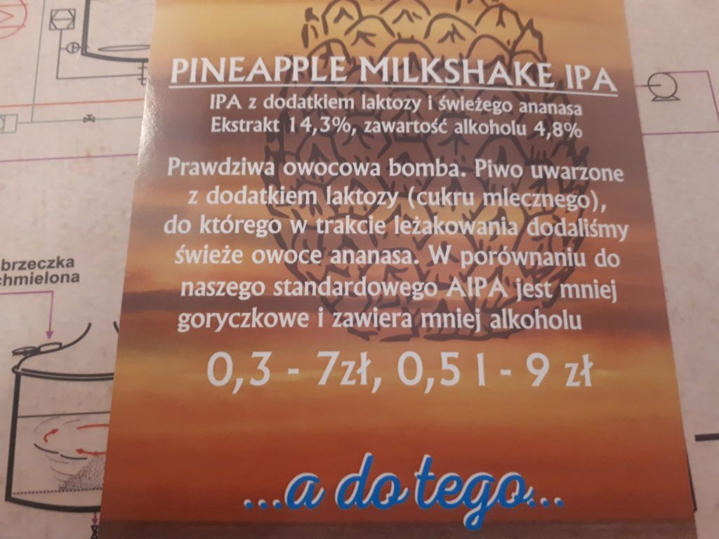 Pineapple Milkshake IPA at Browar Tumski, Płock, Poland