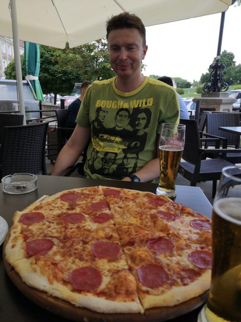 Pizza and Piwo for lunch in Lublin