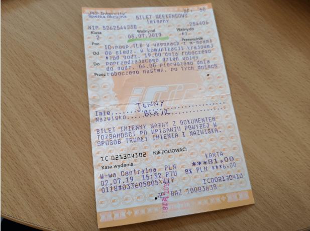 Cheap Polish train travel - Bilet Weekendowy