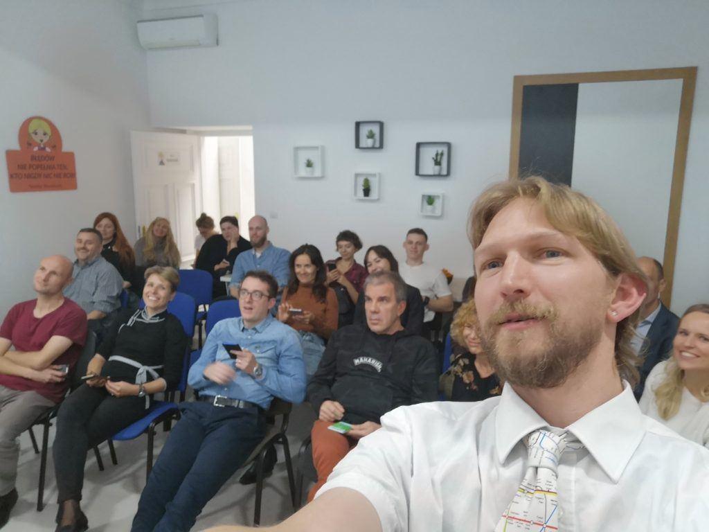"My presentation on ""Unusual Travel"" in Warszawa."