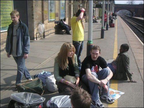 Representing Bournemouth University at the NASTAs, April 2005