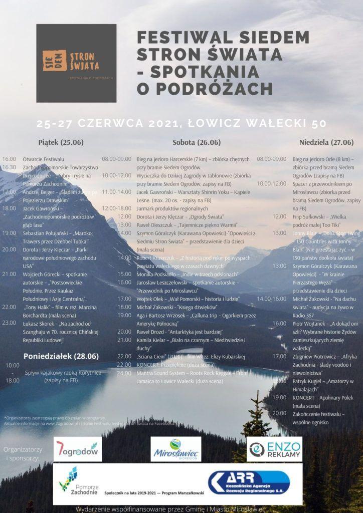 Attending the Siedem Stron Świata Festival in Łowicz Wałecki, Western Poland
