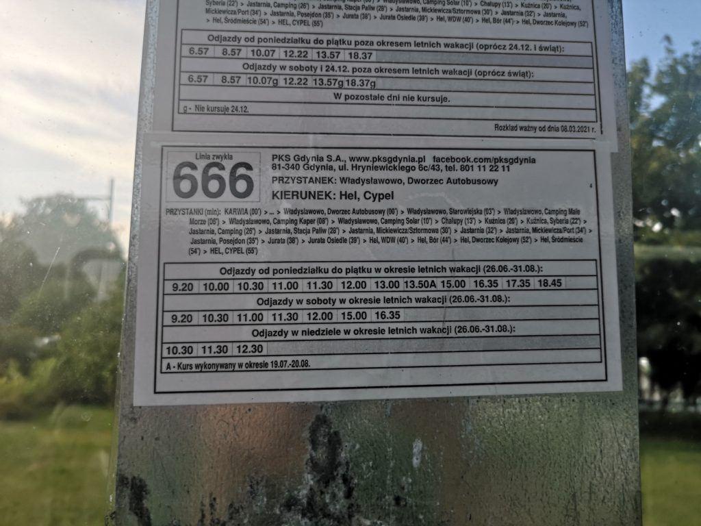 Dziwaczne Odkrycia: How To Get The 666 Bus To Hel