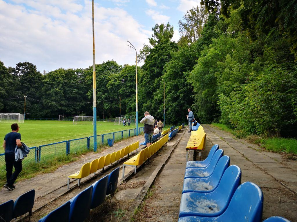 The stadium at Kolejarz Łódź